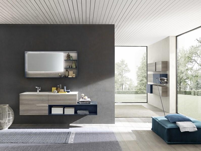 Mobile per il bagno azzurra bagni m system c006 con forte for Arredo bagno 3d