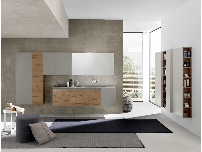 Mobile per il bagno azzurra bagni m2 system c211 a prezzi for Armadi per il bagno