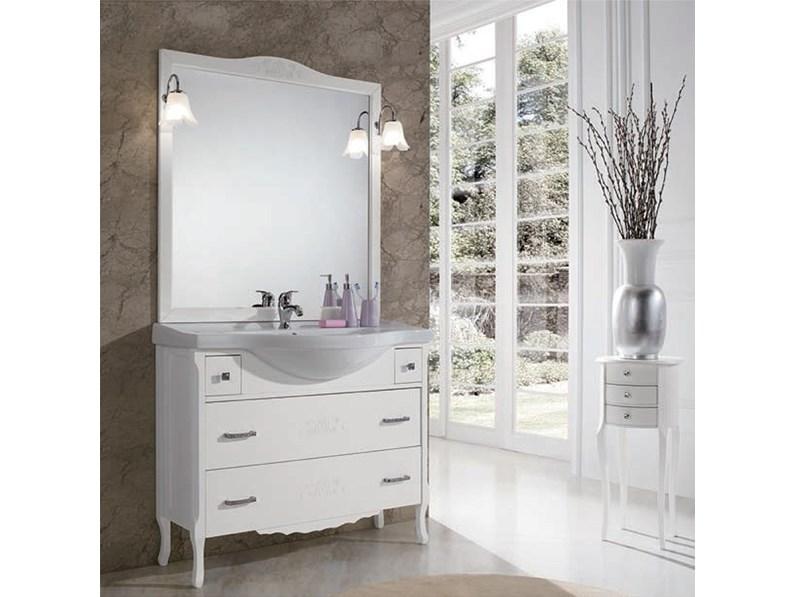 Mobile per il bagno classico artigianale beatrice bianco for Il mobile classico
