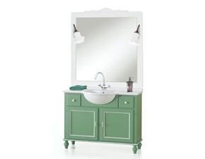 Mobile per il bagno Lion's Bagno shabby verdone  a prezzi outlet