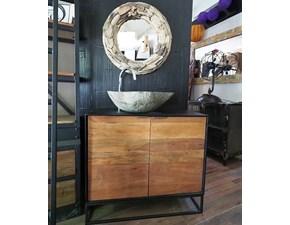 Mobile per il bagno Outlet etnico Mobile bagno industrial legno e ferro , a prezzi outlet