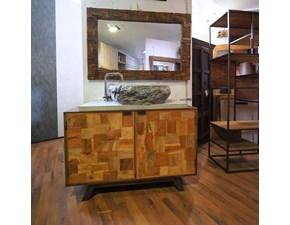 Mobile per il bagno Outlet etnico Mobile bagno minimal wood in offerta  in offerta