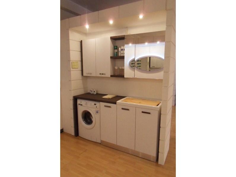 Mobile per la sala da bagno compab f3 lavanderia a prezzo outlet - Mobile bagno prezzo ...