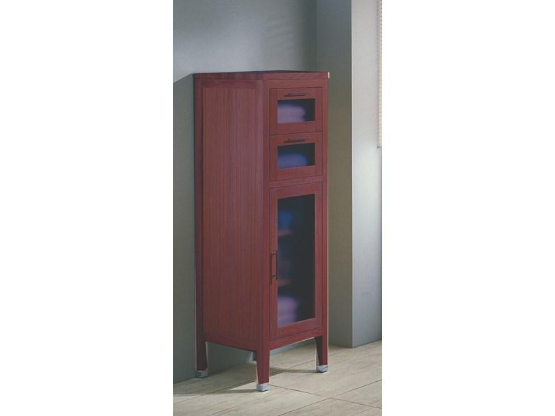 Mobile per la sala da bagno euro bagno vetrinetta in massello di rovere a prezzo outlet - Bagno di colore prezzo ...