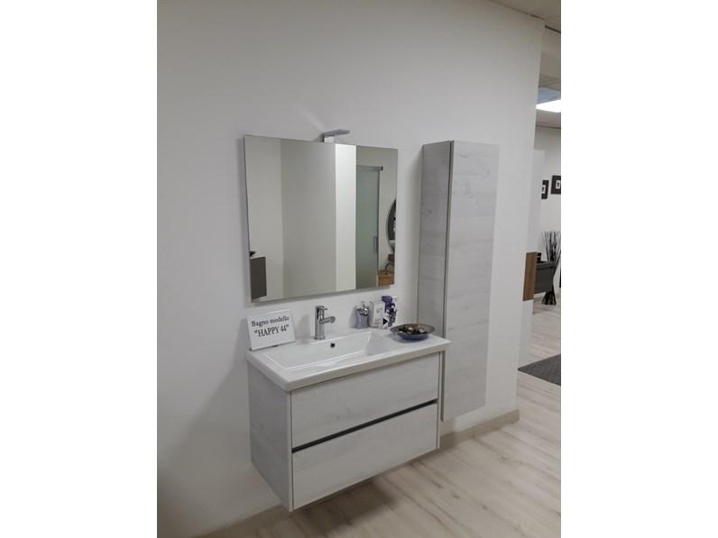 Mobile per la sala da bagno eurobagni happy 44 a prezzo outlet - Lavelli da appoggio per bagno ...