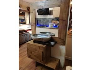 Mobile per la sala da bagno Outlet etnico Bagno essential bambu design a prezzo scontato