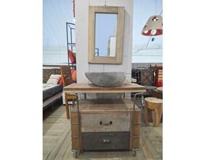 Mobile per la sala da bagno Outlet etnico Iron boat composizione bagno in Offerta Outlet