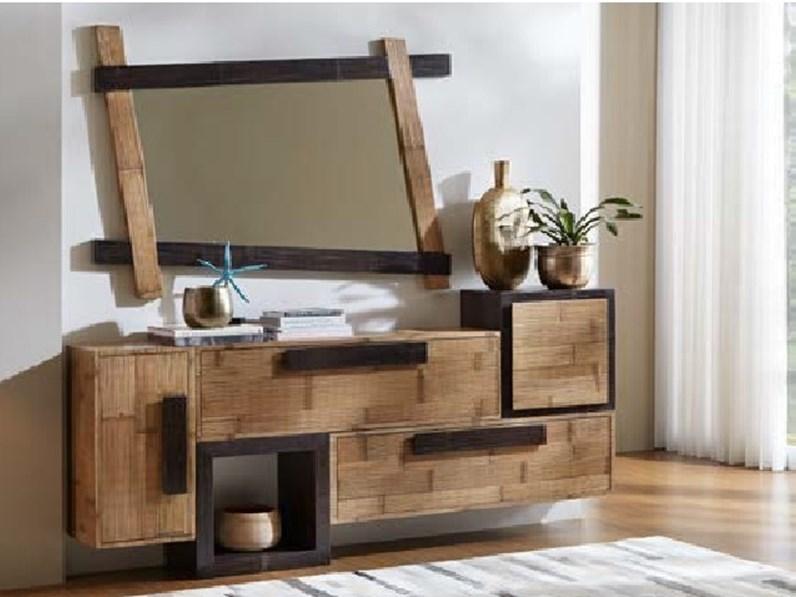 Mobilel bagno legno e bambu minimal design a prezzi for Arredo bambu