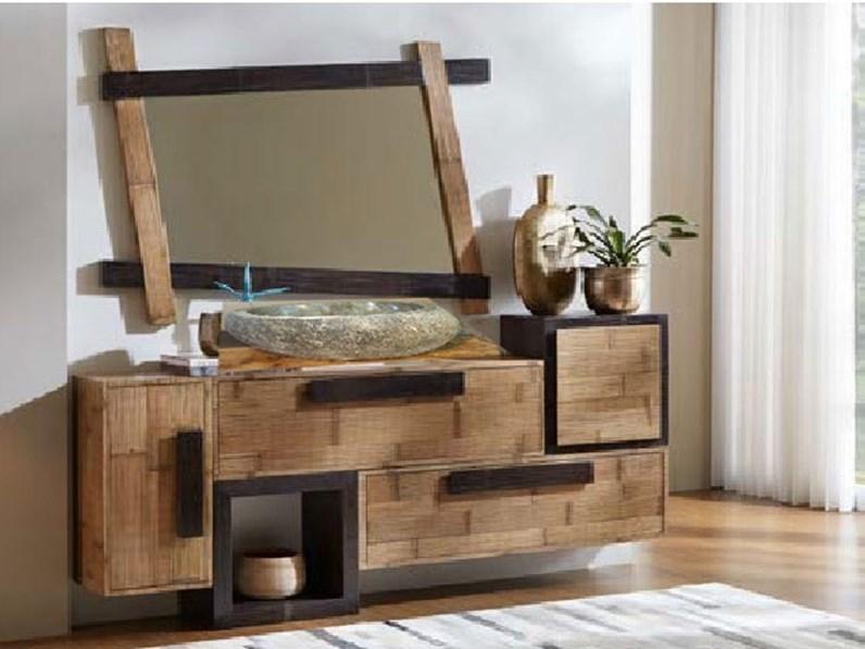 Mobilel bagno legno e bambu minimal design a prezzi convenienti - Legnobagno prezzi ...