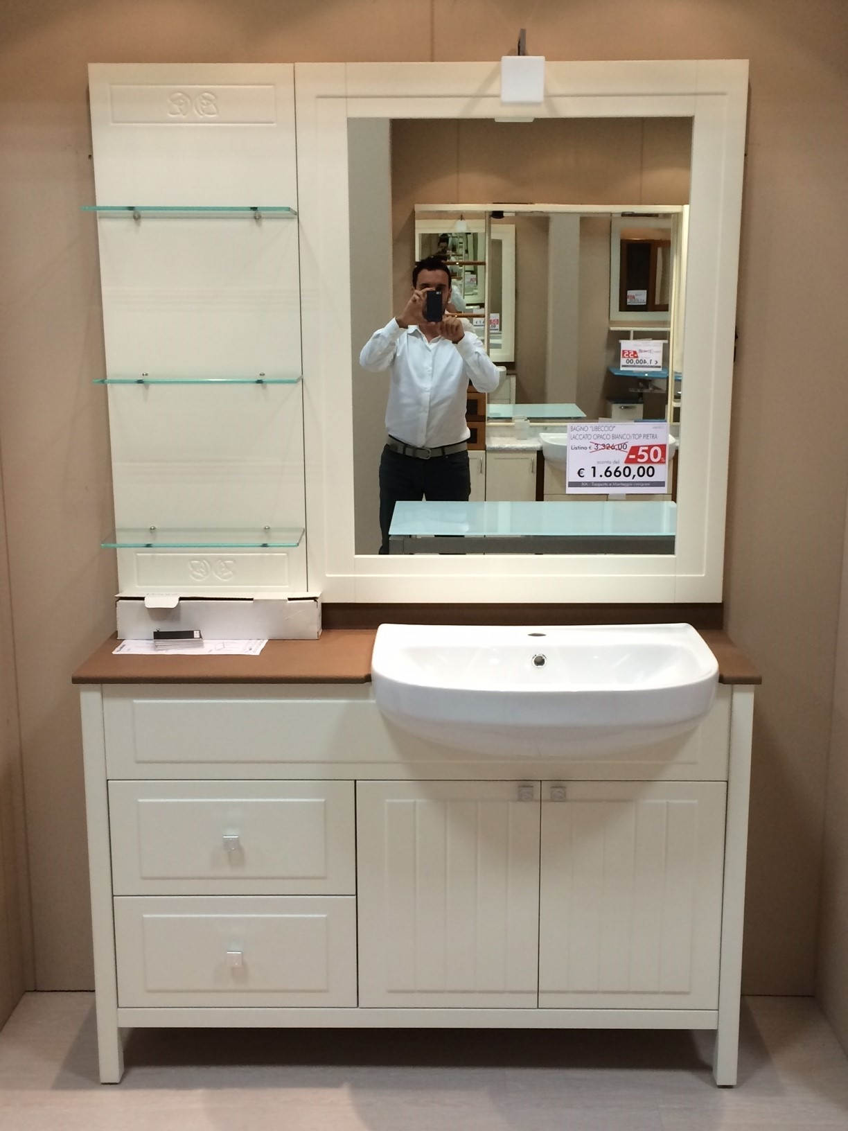 Zanotto bagni outlet moderno laccato opaco arredo bagno for Arredo mobili outlet