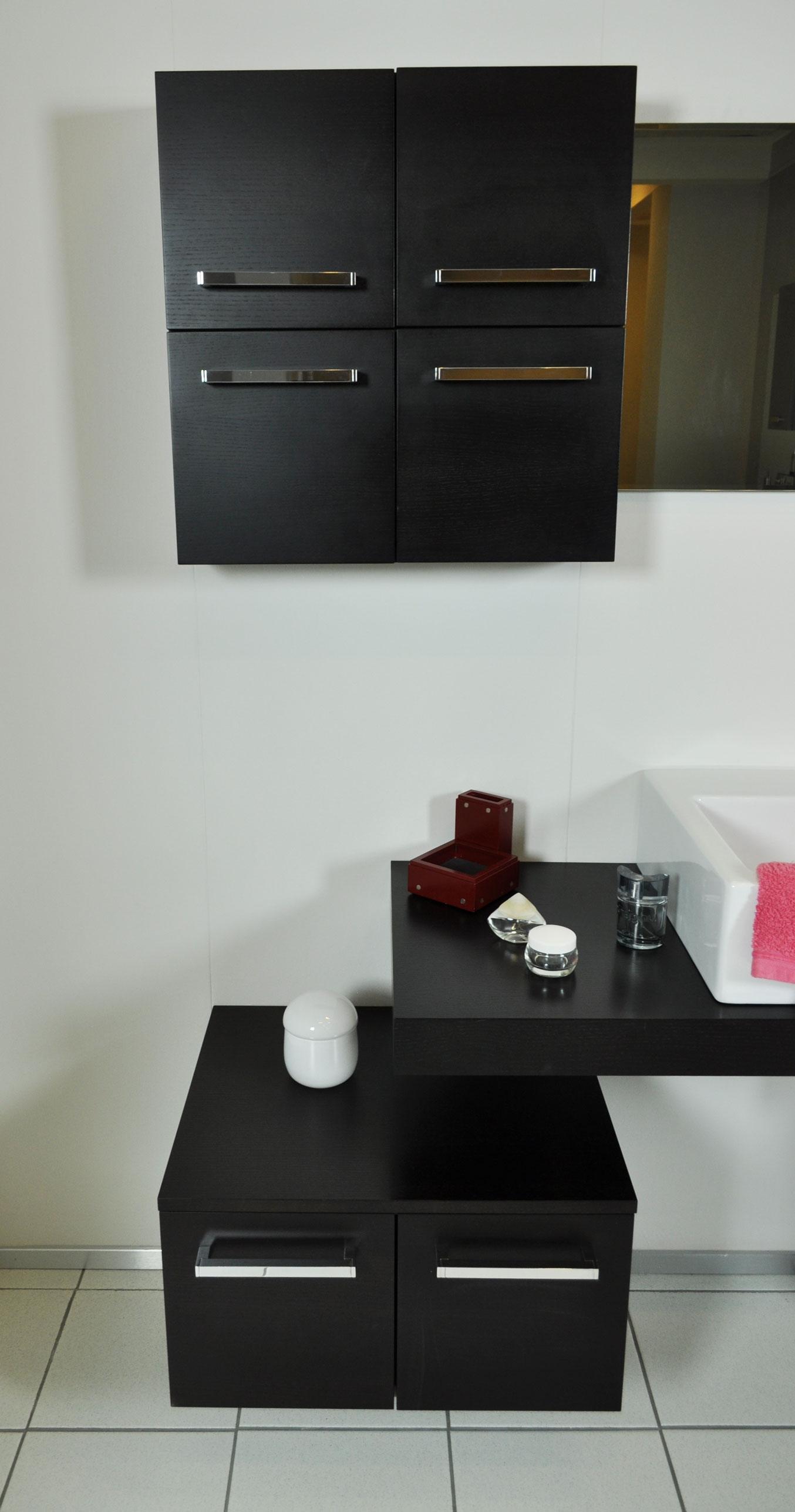 Novabagno mobile da bagno con lavabo soprapiano scontato for Prezzi lavabo bagno con mobile