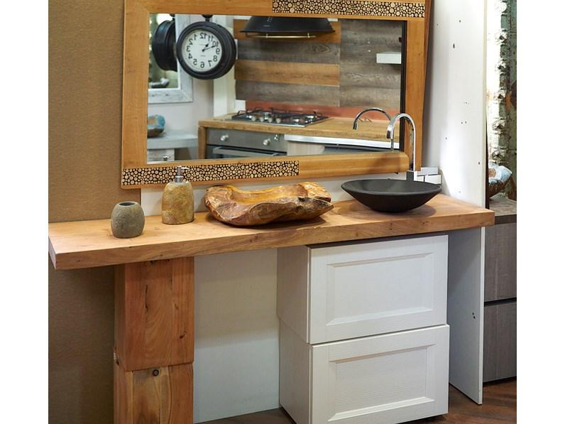 Nuovi Mondi Cucine Arredo bagno consolle in legno massello e ...