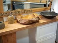 Accessori Bagno In Legno Massello : Nuovi mondi cucine arredo bagno consolle in legno massello e