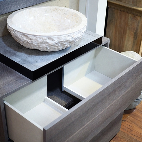 Nuovi mondi cucine composizione arredo bagno 2 cassettoni design grigio in offerta scontato del - Arredo bagno grigio ...