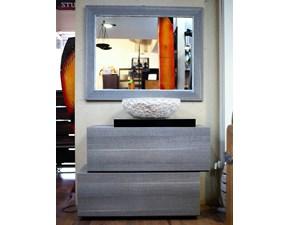 composizione arredo bagno 2 cassettoni design grigio in offerta