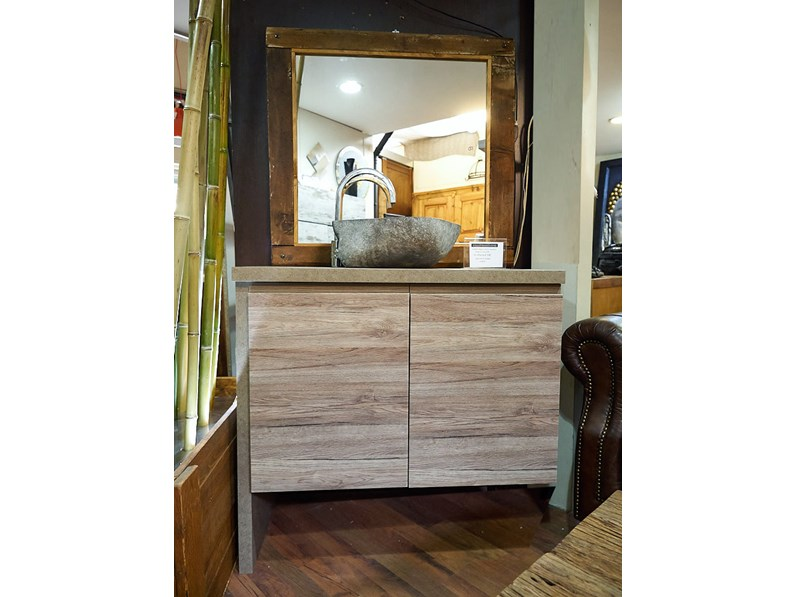 Nuovi Mondi Cucine Mobile arredo bagno moderno 2 ante nocciola e ...