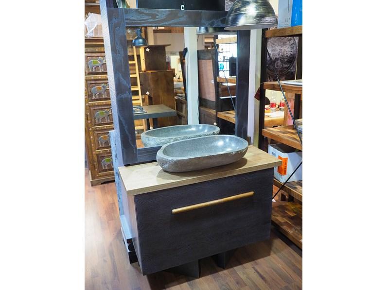 Nuovi Mondi Cucine Mobile bagno anta a ribalta in legno colore ...