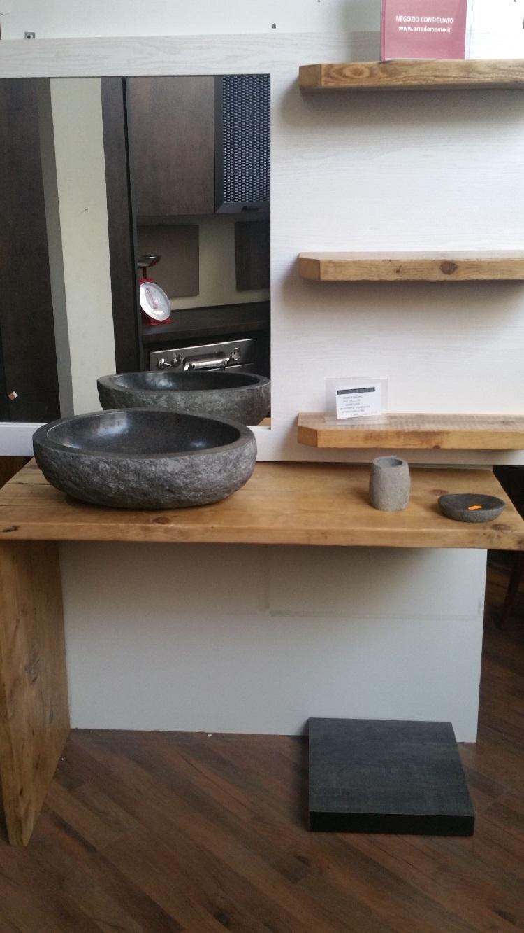 Nuovi mondi cucine mobile bagno in legno radice di seesham - Cucine di design in offerta ...