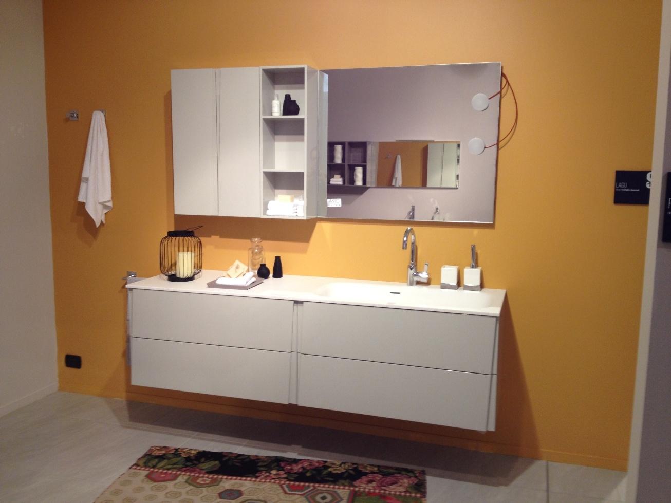 Bagno scavolini lagu moderno laccato lucido arredo bagno for Mobili bagno outlet