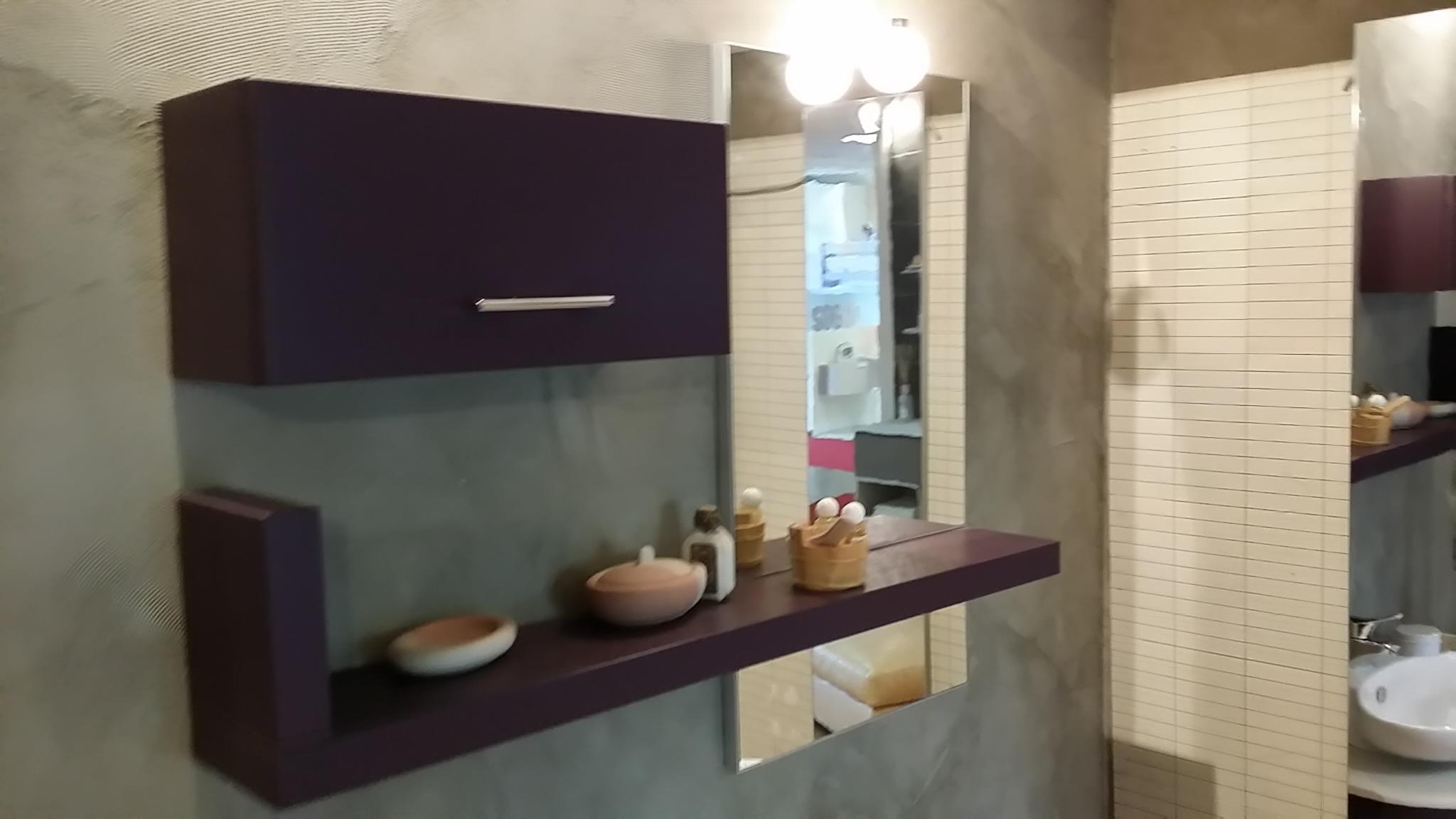 mobile bagno sospeso arancione mobile bagno bianco decapã