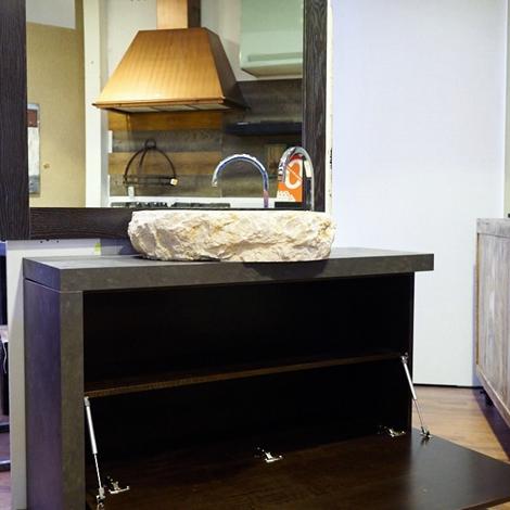 Outlet Etnico Mobile arredo bagno con design moderno zon in noce scuro decape' in offerta Legno ...