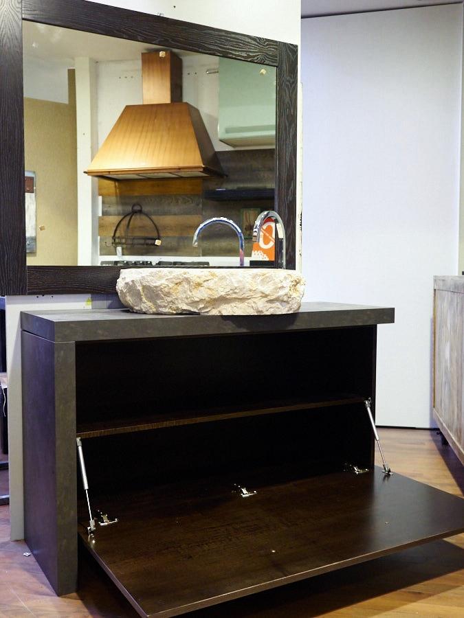 Mobile bagno noce scuro la scelta giusta variata sul for Arredo bagno design outlet