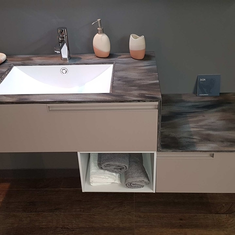 Outlet mobile bagno sospeso con top in corian arredo for Arredo bagno outlet
