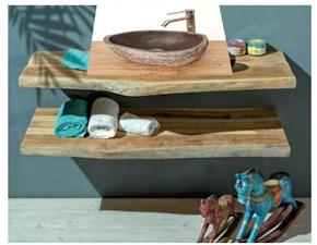 Piani top bagno in legno di teak   Outlet etnico: mobile da bagno A PREZZI OUTLET