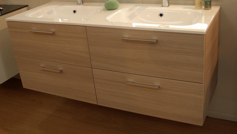 Mobile bagno con doppio lavabo 120cm tutto su - Mobile lavello bagno ...