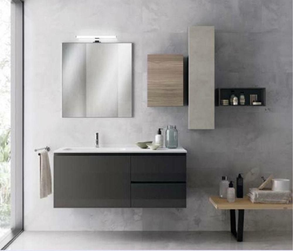 Scavolini Bathrooms Rivo Moderno Laccato Lucido Sospeso - Arredo bagno a prezzi scontati