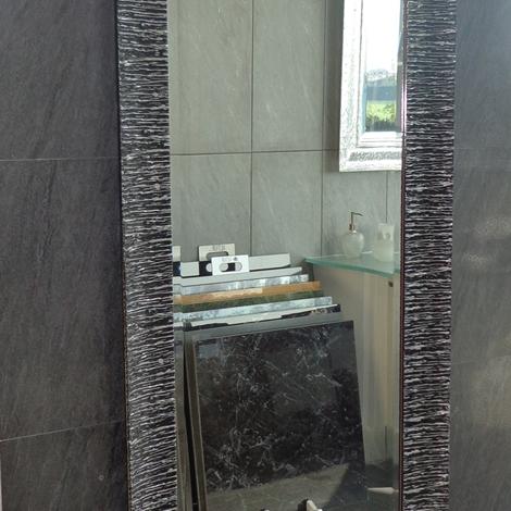 Specchio nero argento arredo bagno a prezzi scontati - Specchio contenitore bagno prezzi ...