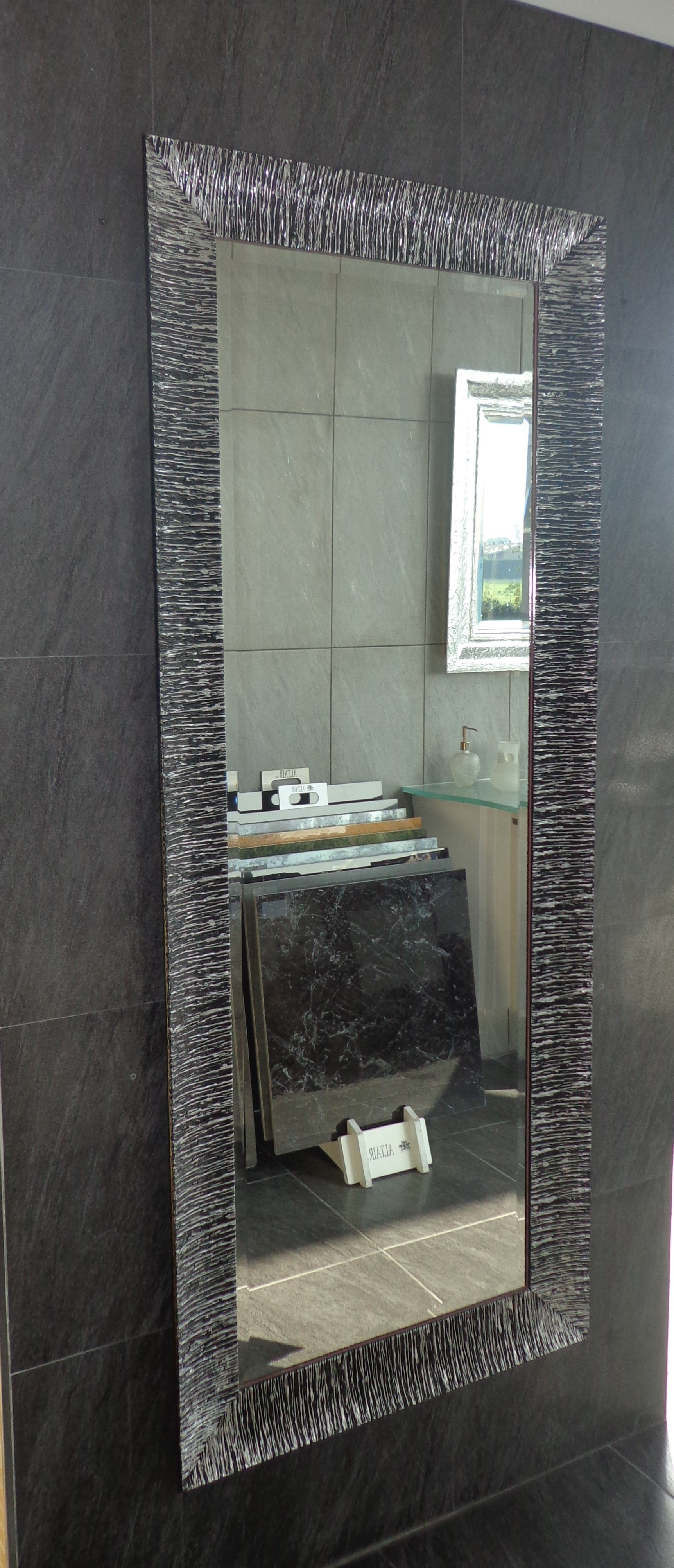 Specchio nero argento arredo bagno a prezzi scontati - Specchio bagno prezzi ...