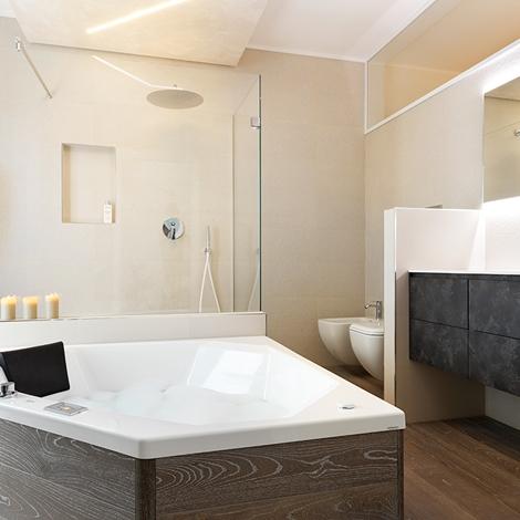 Vasca glass idromassaggio eden 150x150 arredo bagno a for Arredo bagno vasca