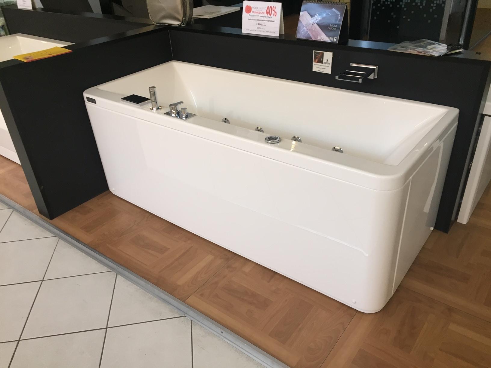 Vasca idro grandform slim edge 170x70 con rubinetteria for Arredo bagno vasca