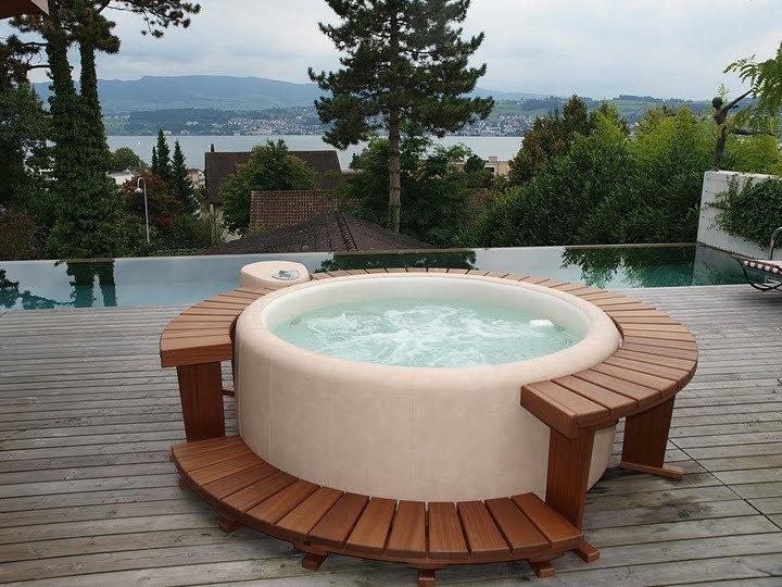 Vasca idromassaggio spa arredo bagno a prezzi scontati - Piscina per terrazzo ...