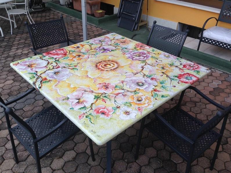 Domiziani Roberto Tavolo 140 x 140 ceramica deruta domiziani ...