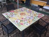 Domiziani Roberto Tavolo 140 x 140 ceramica deruta domiziani scontato del  -40 %