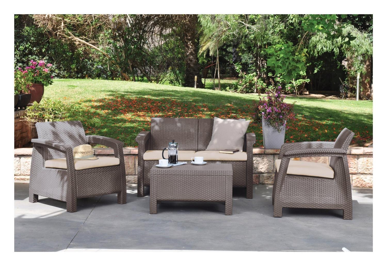 Arredo giardino moderno divano salotto rattan grigio for Arredo giardino moderno
