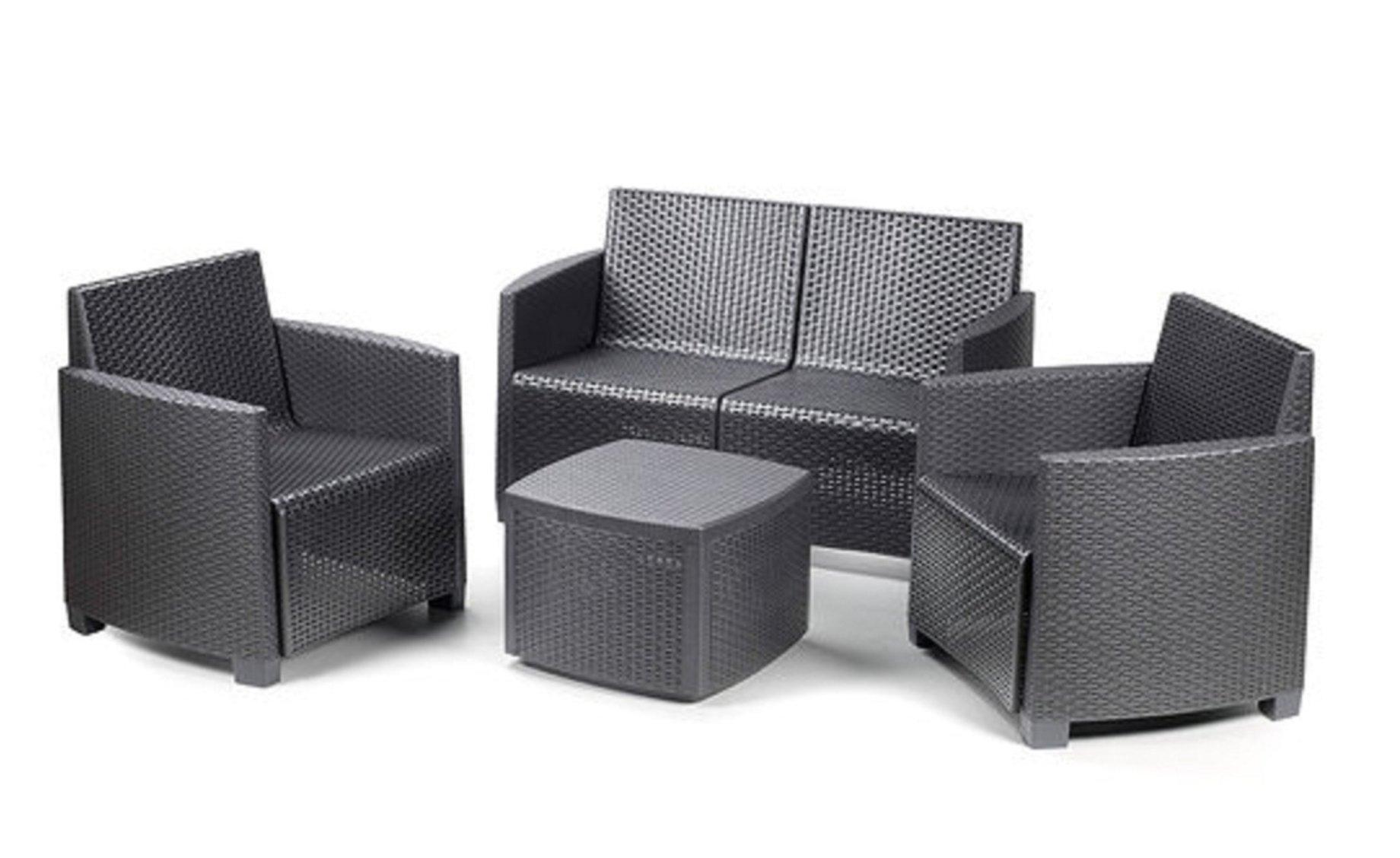 Arredo giardino rattan cheap arredamento esterno divani for Mobili da giardino in plastica