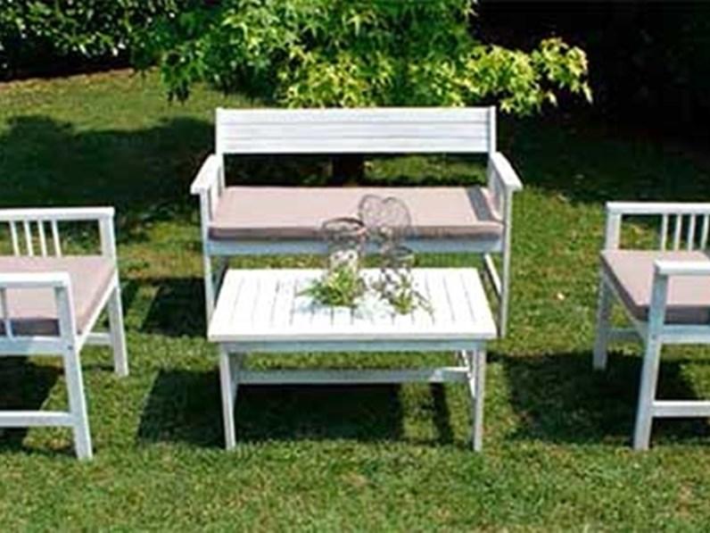 Bali bianco di cosma outdoor living divano da giardino a for Outlet giardino