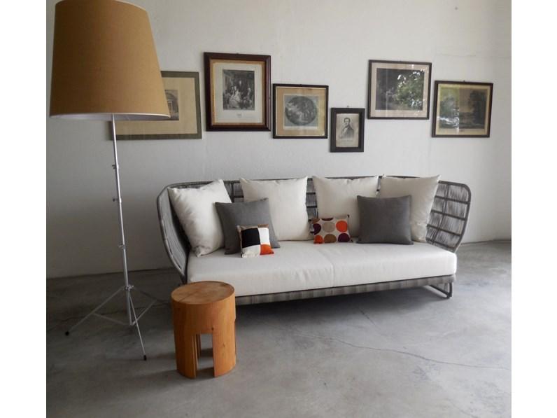 B b b b italia divano canasta outdoor promozione b b for Outlet arredo design online