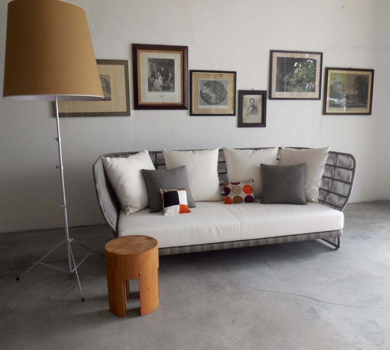 B b b b italia divano canasta outdoor promozione b b for Arredo giardino design outlet