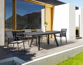 Bizzotto Klayton allungabile 160/240 con 6 poltroncine cruise antracite: tavolo da giardino con forte sconto