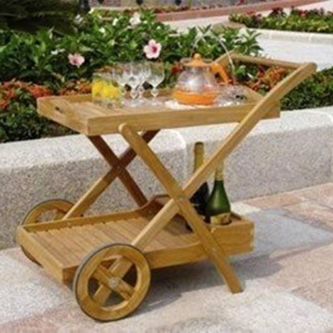 CARRELLO IN TEAK BIRMANO