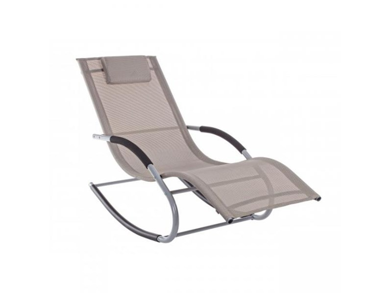Chaise longue dondolo roger tortora bizzotto sedia da for Arredo da giardino outlet