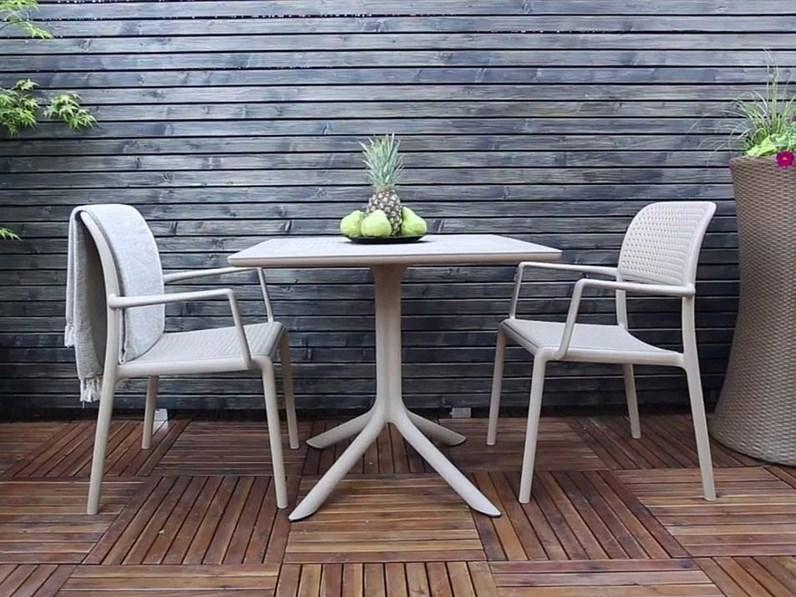 CLIP 80X80 4 SEDIE BORA BIANCO Nardi outdoor: tavolo da giardino a ...