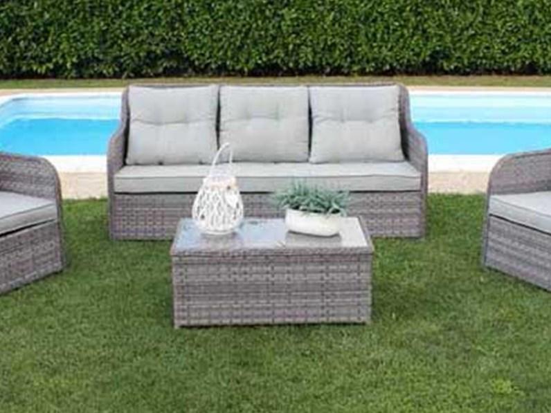 Divano da giardino memphis grigio cosma outdoor living for Outlet giardino