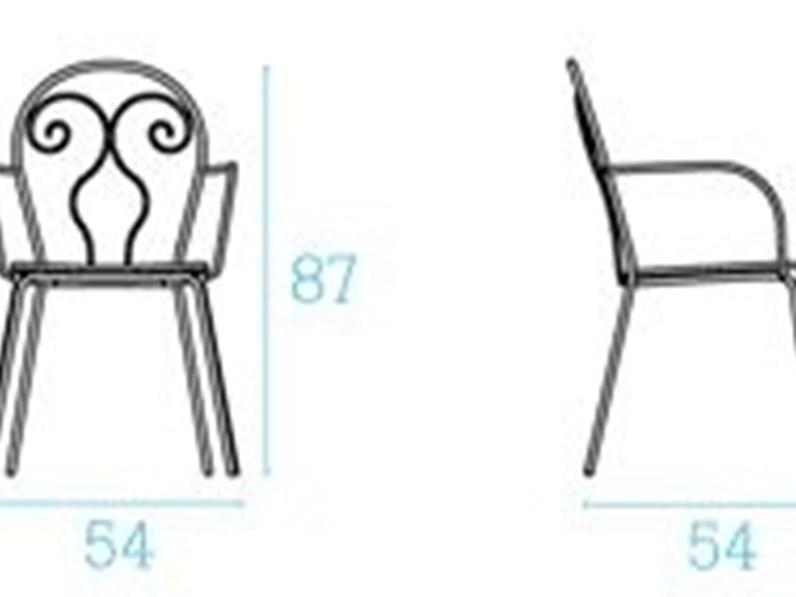 Emu caprera colore bianco sedia da giardino a prezzi for Arredo giardino bianco