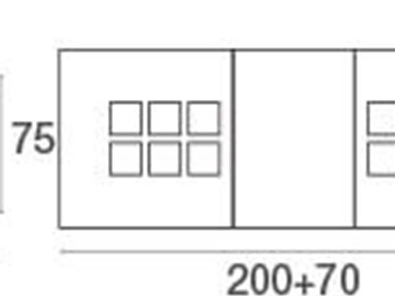 Emu tavolo bridge 200 70 con 6 ronda tavolo da giardino a for Arredo giardino mercatone uno