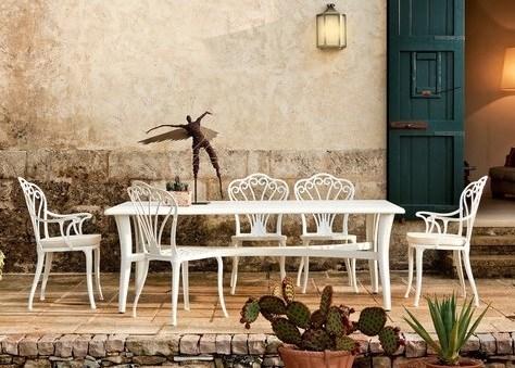 Tavolo pompei e sedia althea tavoli giardino arredo for Tavolo sedie giardino prezzi